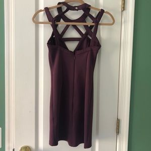Tobi Dresses - Strappy plum mini dress